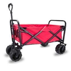 Тележка складная Monkey Wheels MW-90R красная (четырёхколёсная, для кемпинга, отдыха на природе)