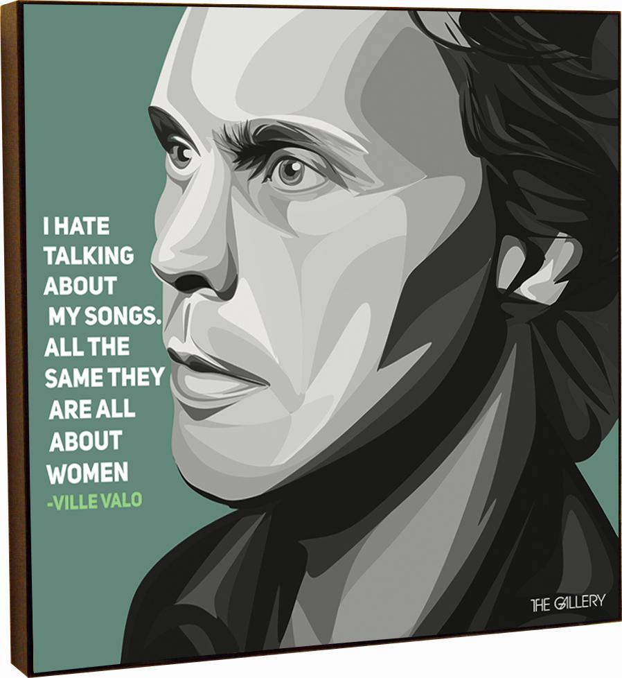 Картина постер Вилле Вало HIM в стиле поп-арт 25 х см