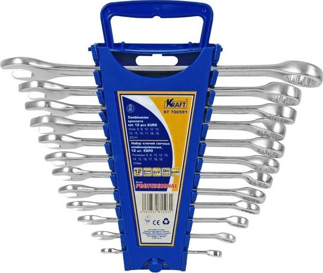 Набор гаечных ключей KRAFT КТ 700591 ключ комбинированный kraft 16 мм кт 700510