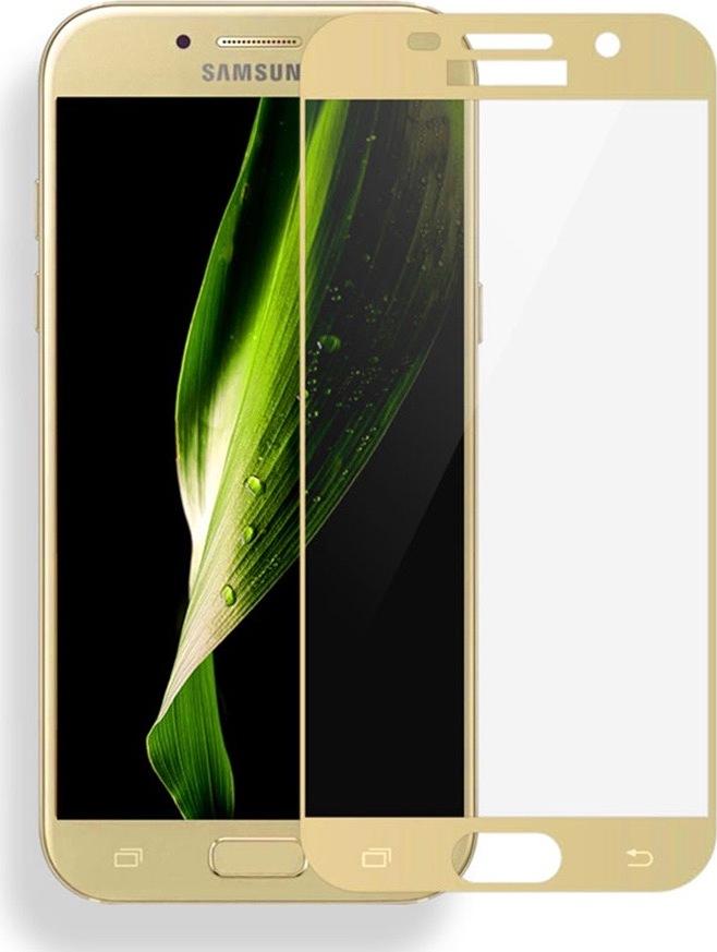 Полноприклеивающееся защитное стекло для Samsung Galaxy A5 2017 Золотой