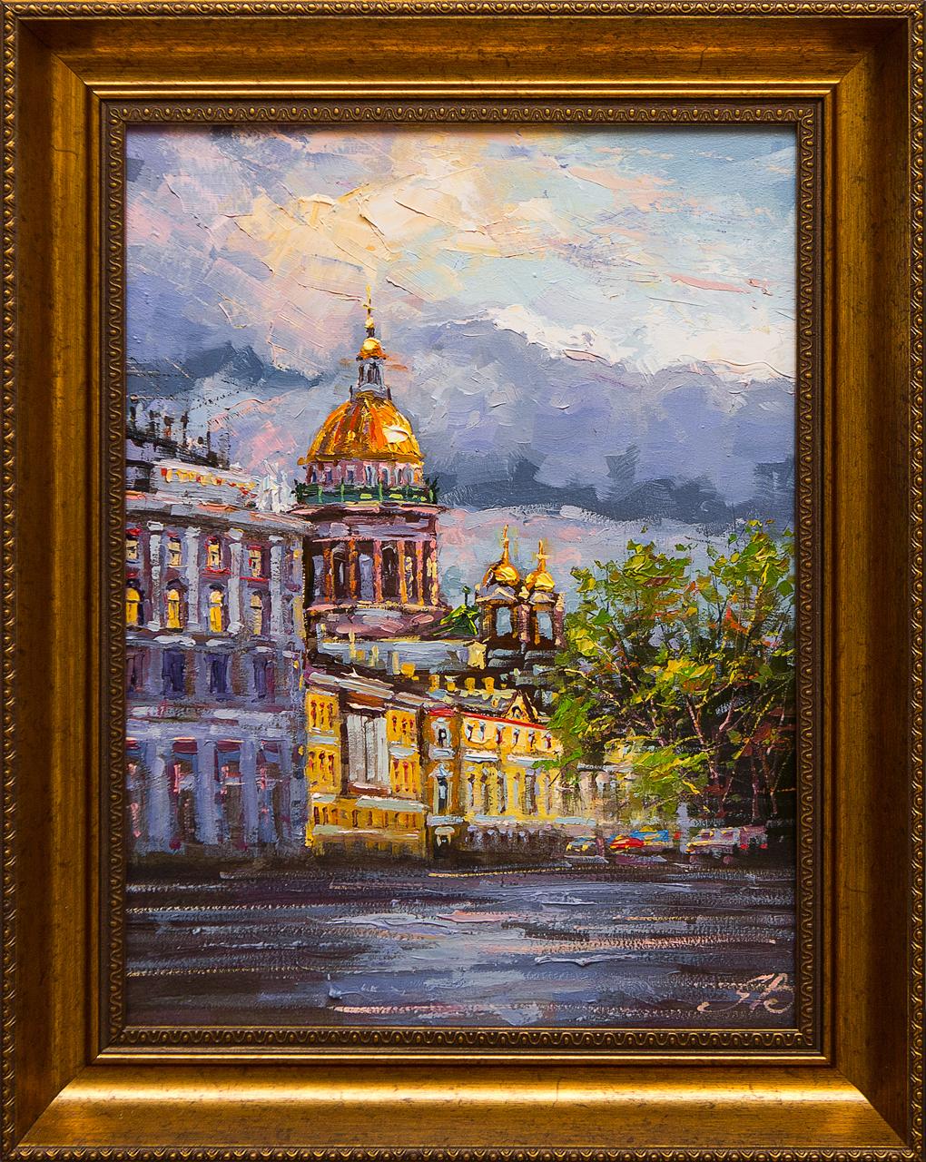 Картина маслом Белые ночи Янченко картина маслом вид с университетской набережной белые ночи воробьев