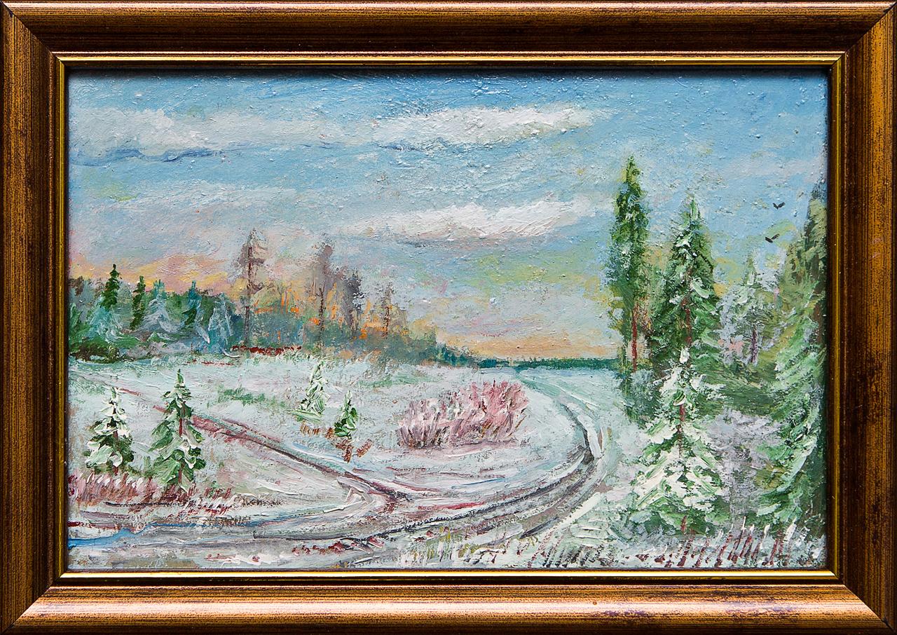 Картина маслом Зима, мороз Мифтахов картина маслом подсолнухи мифтахов