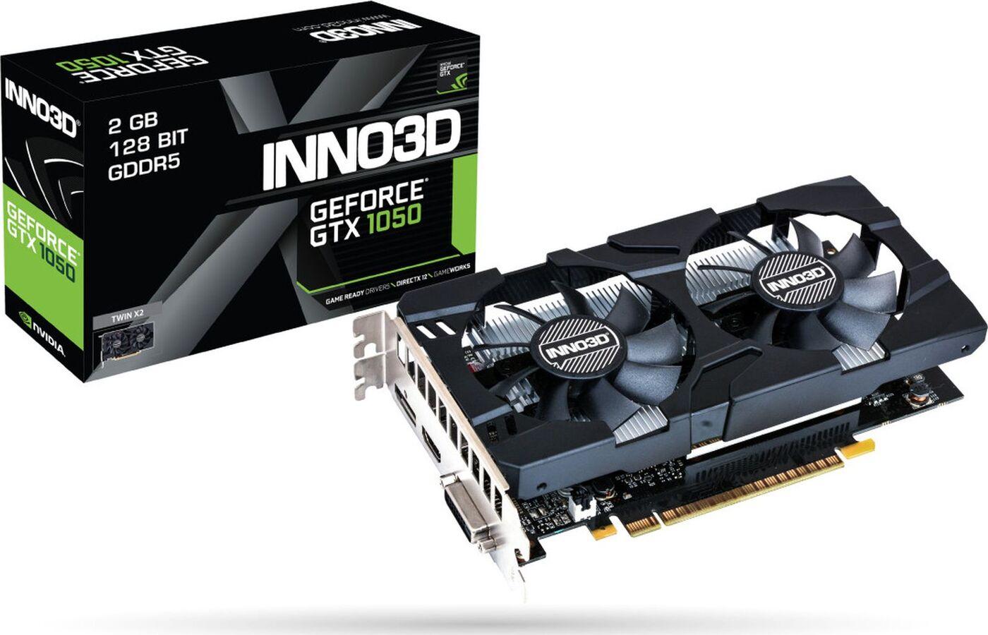 Видеокарта INNO3D GeForce GTX 1050 2GB, N1050-3DDV-E5CM цена и фото