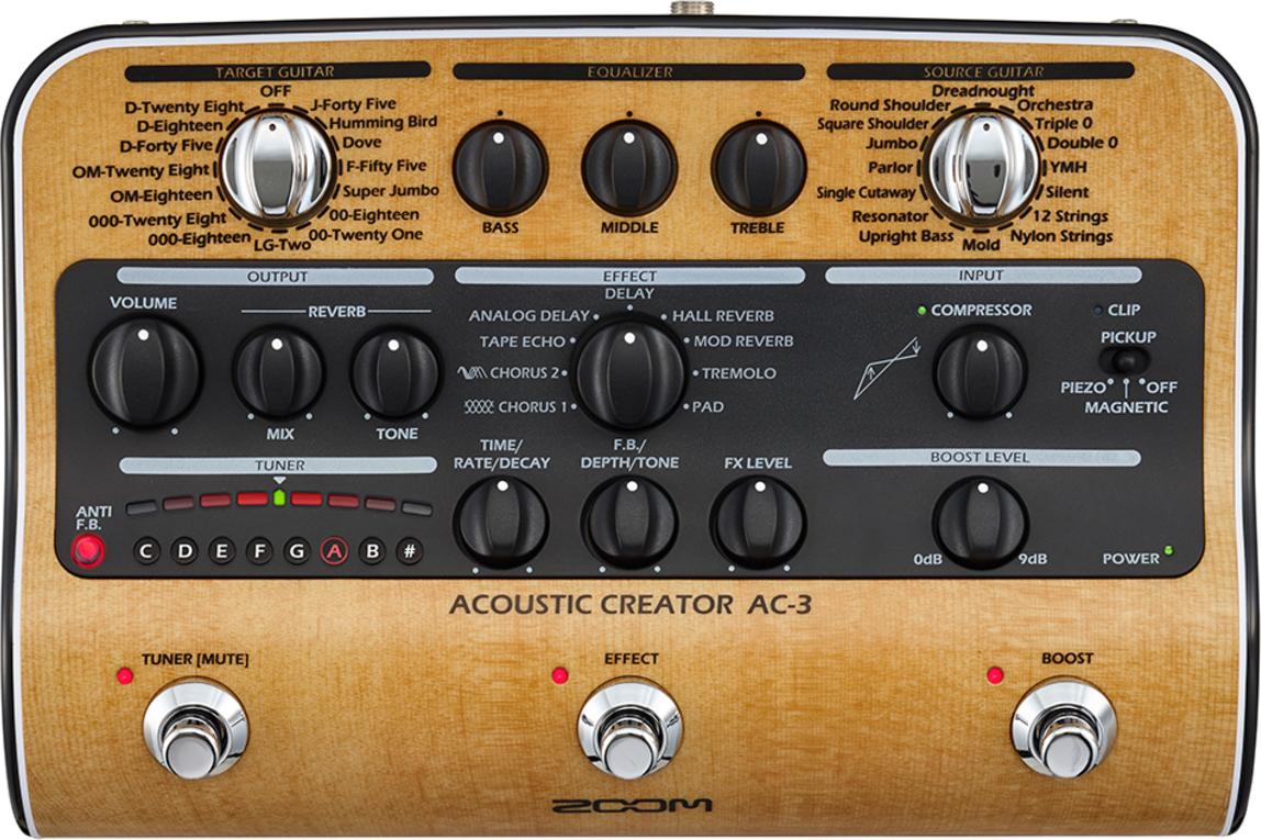 Процессор эффектов для акустической гитары Zoom AC-3
