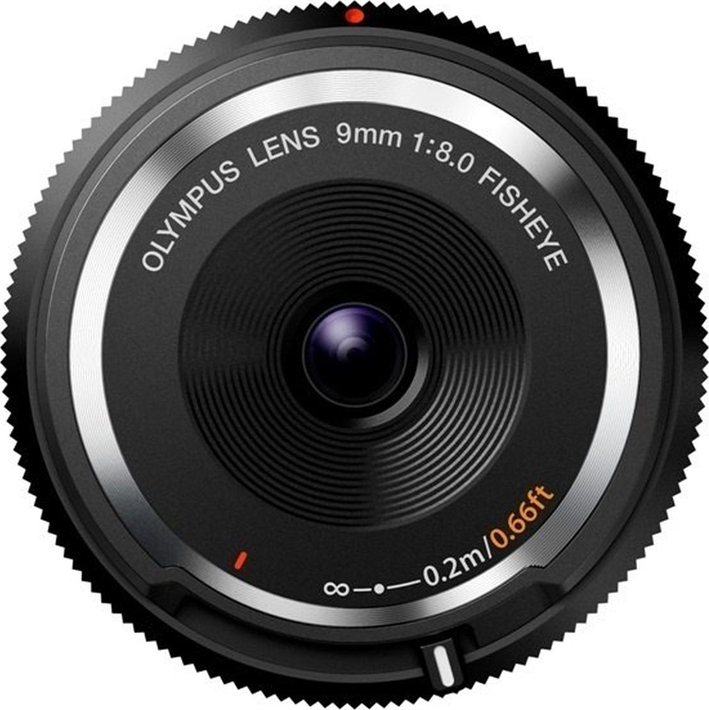 Объектив Olympus Body Cap Lens 9mm F8, черный