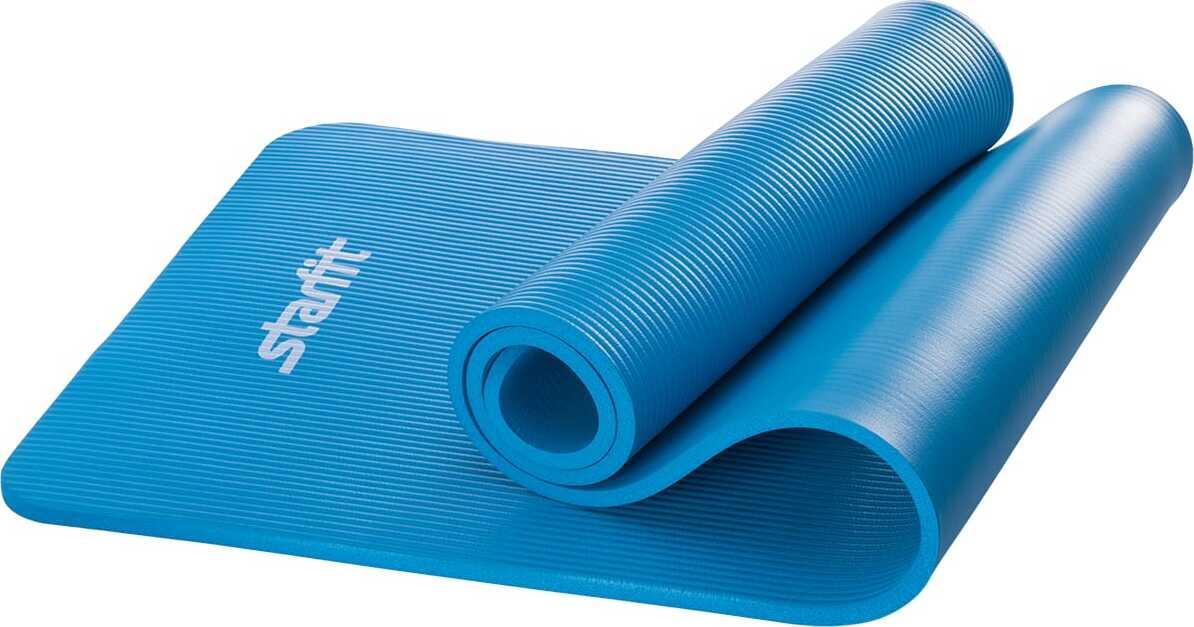 Коврик для йоги StarFit FM-301, NBR, 183x58x1,2 см, синий