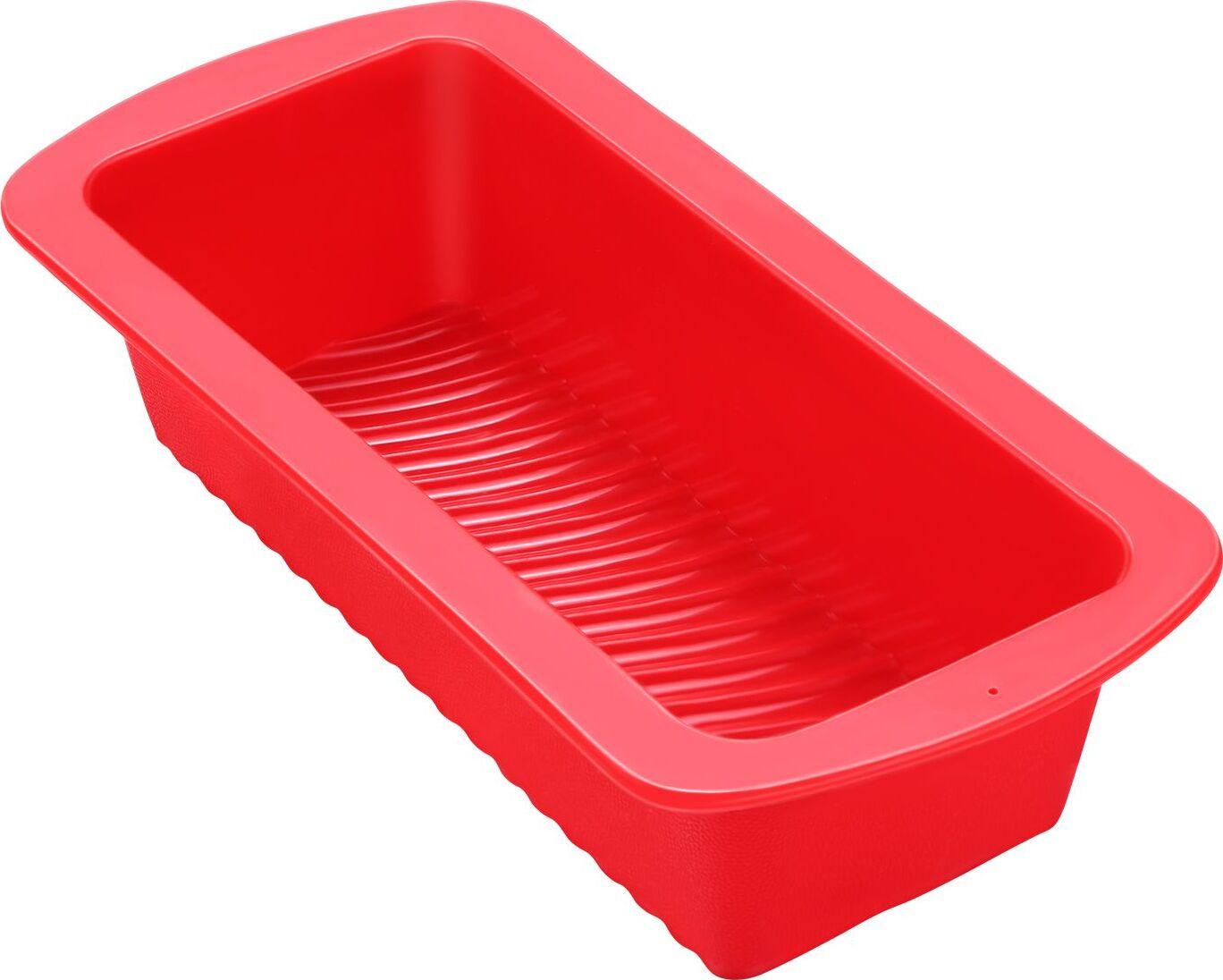 Силиконовая форма для выпечки прямоугольная красная