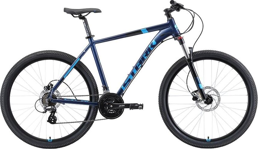 Велосипед Stark'19 Router 27.3 HD голубой/чёрный, 20' (H000014037)