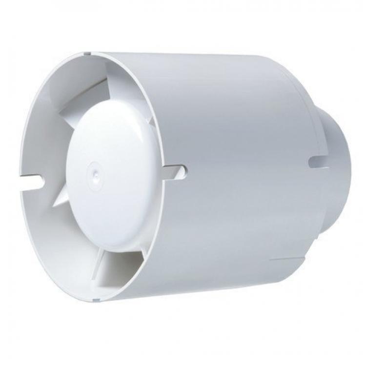 Вытяжка для ванной диаметр 150 мм Blauberg Tubo 150 Бесшумная крыльчатка. Tubo T модель с таймером диапазон времени...