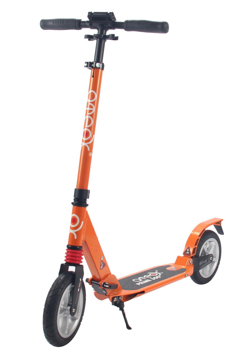 Самокат для взрослых Ateox PRIME 300 c надувными колесами (Оранжевый)