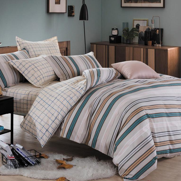 Комплект постельного белья Альвитек CA-6-200, сатин, Евро, наволочки 70х70 + 50х70