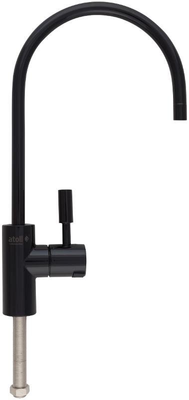 Кран для фильтра Atoll A-8883-BB (LED), черный глянец