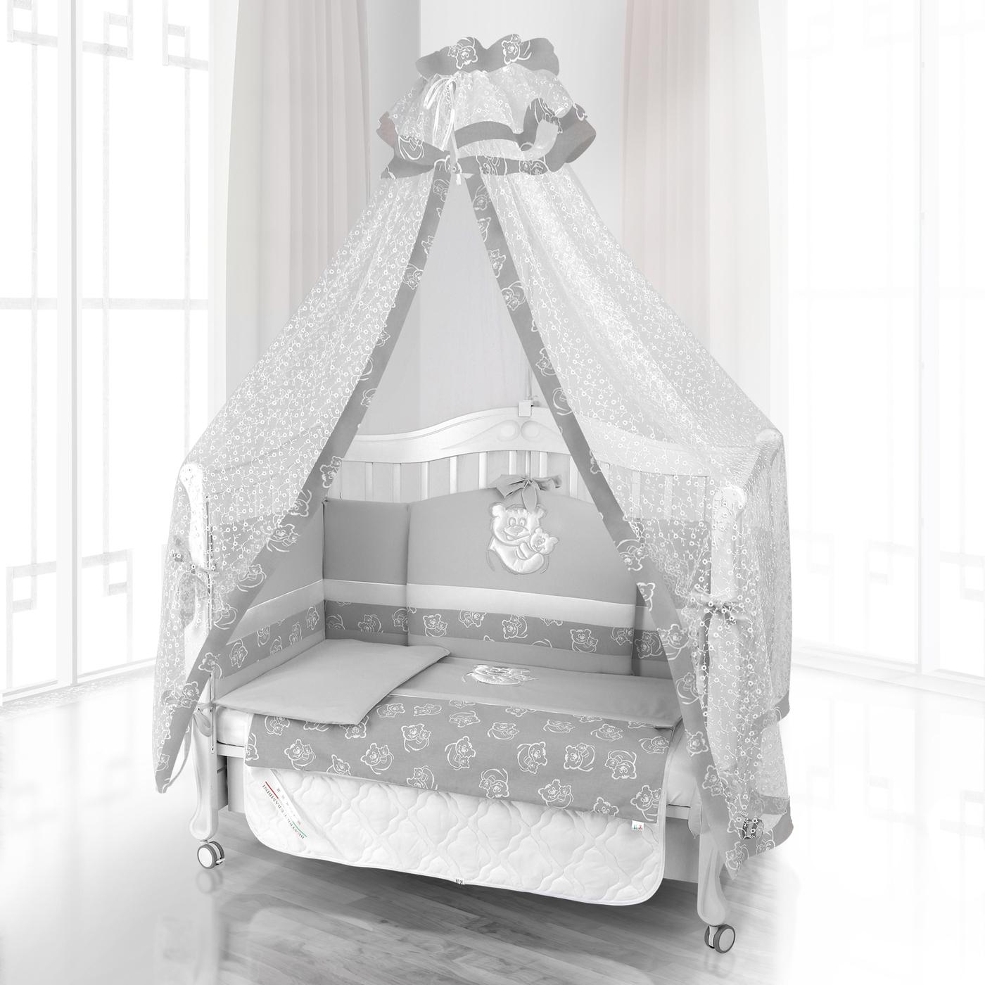 Комплект постельного белья Beatrice Bambini Unico Orso Mamma (125х65) - grigio& grigio