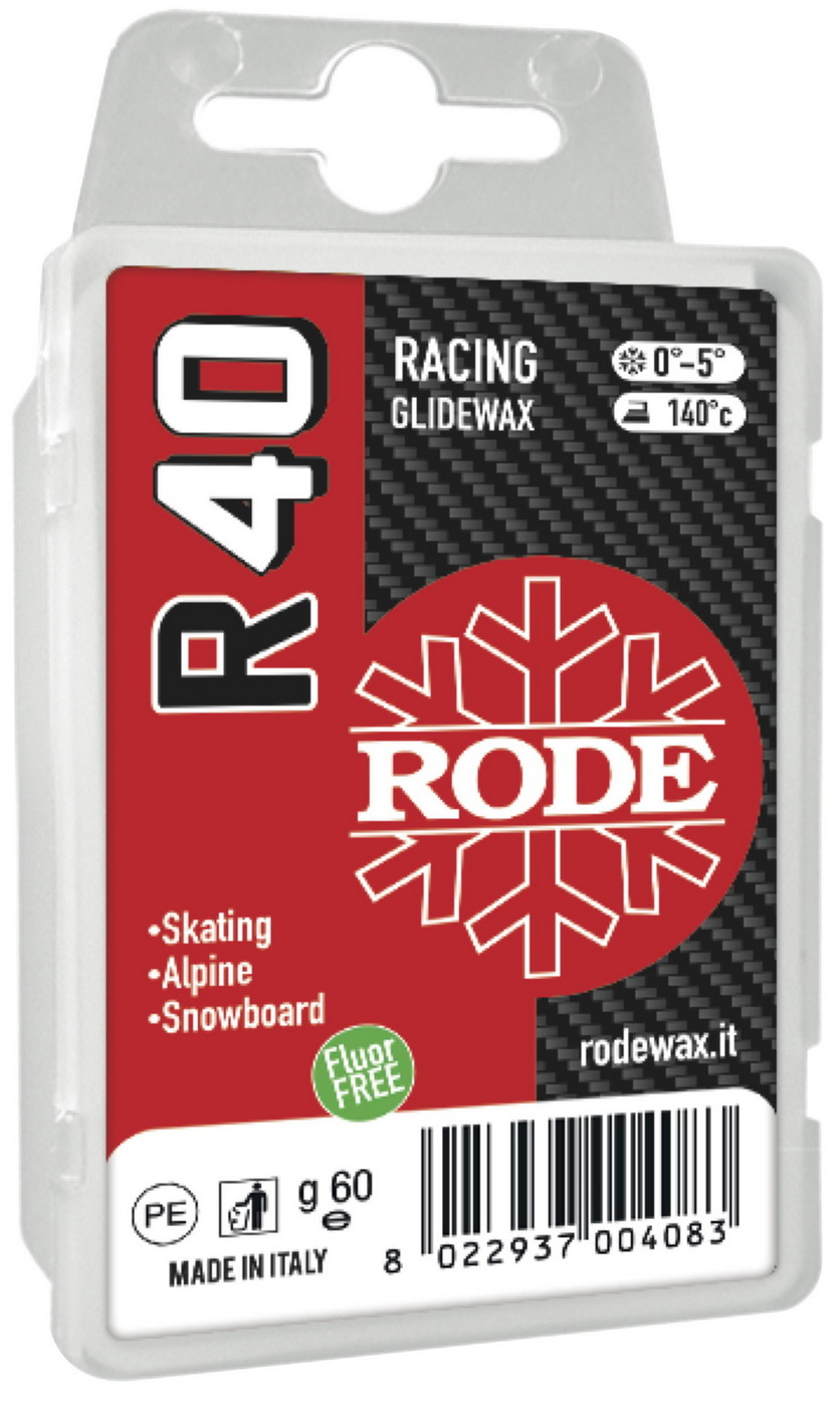Парафин Rode R40 Racing Glider Red, 0°...-5°С, R40-60, красный, 60 г