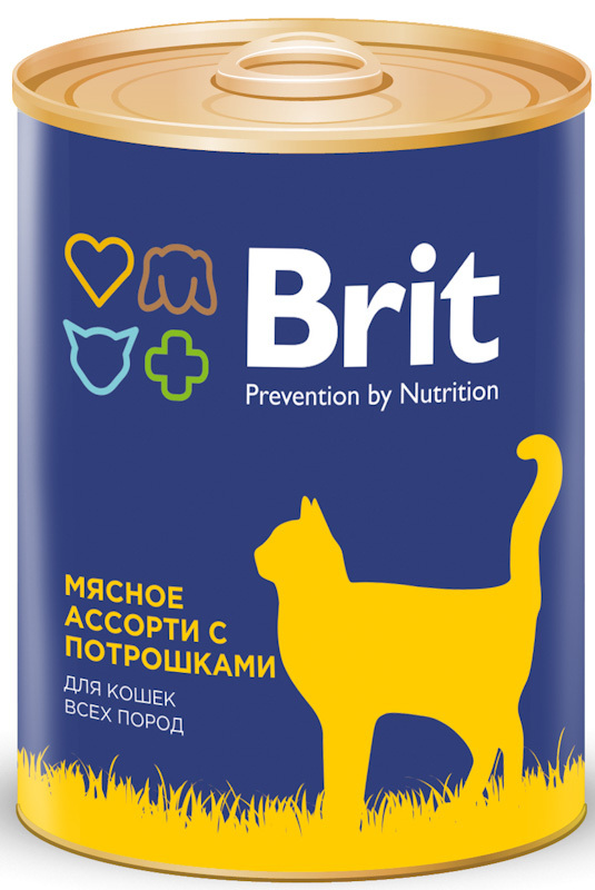 Консервы для кошек Brit Premium BEEF AND OFFAL MEDLEY Мясное ассорти с потрошками, 340 г