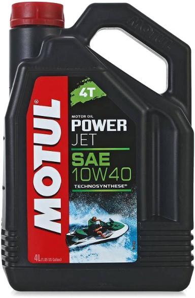 Масло моторное для гидроциклов полусинтетическое Motul Powerjet 4T 10W-40 4л (105874)