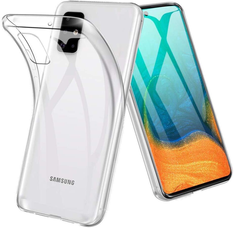 Силиконовый чехол для Samsung Galaxy A71 Прозрачный