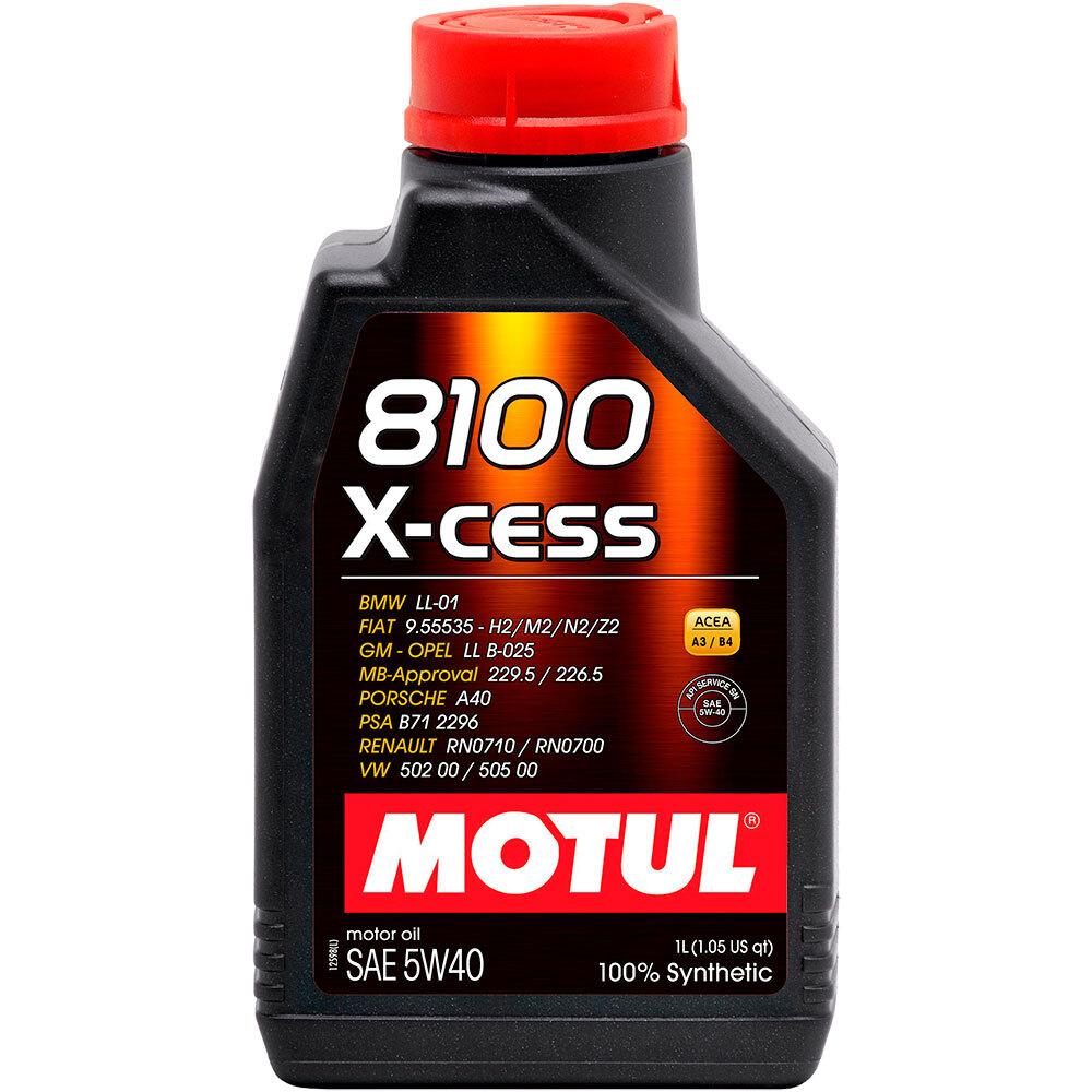 Масло моторное синтетическое Motul 8100 X-CESS 5W-40 100% Synt (1л)