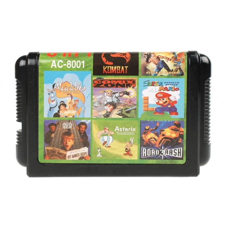 Игровой картридж Sega 8в1 AC8001 рус (без коробки)