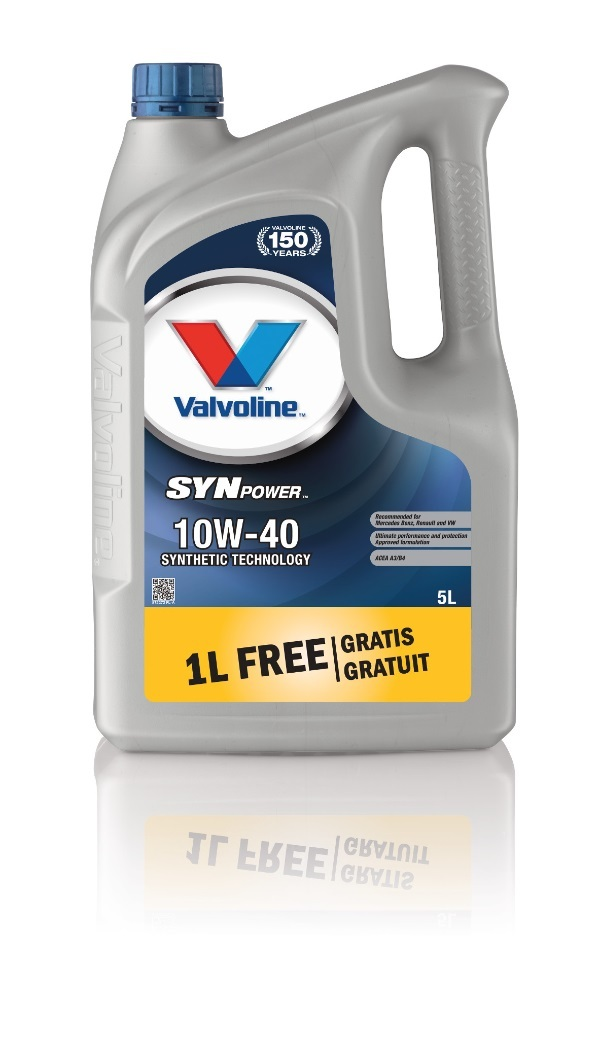 Масло моторное Valvoline SynPower 10W-40 4+1л