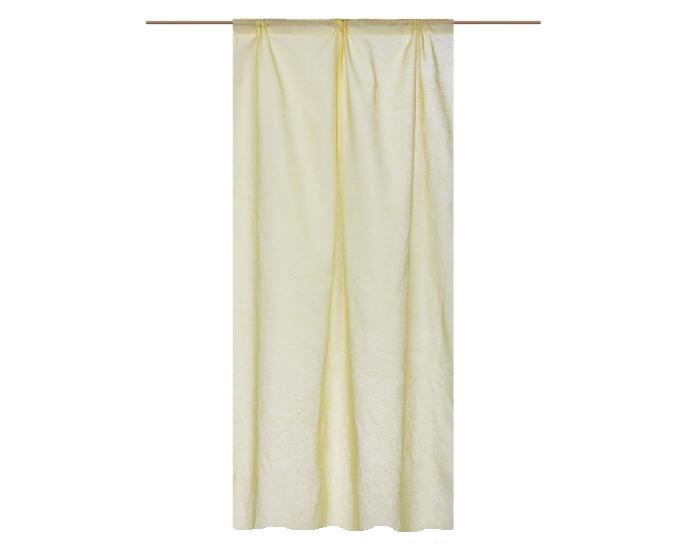 Штора на ленте для кухни 145х180 см цвет жёлтый-20949