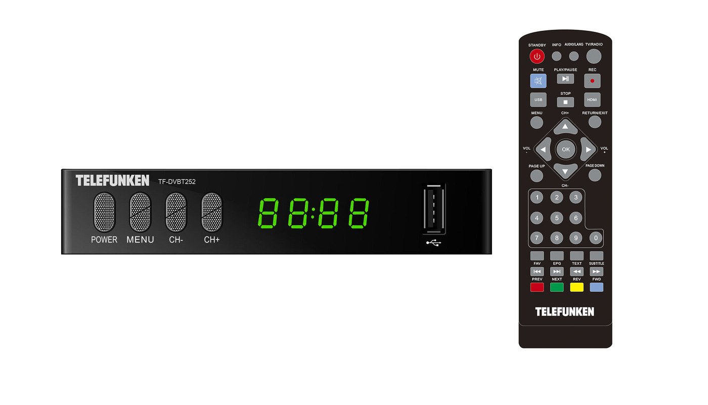 TELEFUNKEN Плееры Медиа TF-DVBT252(черный)