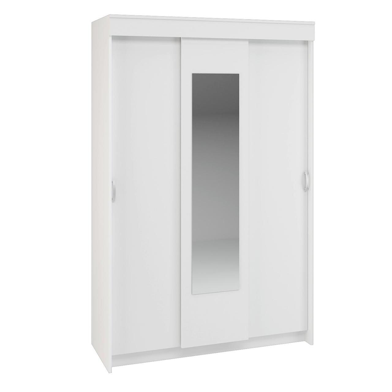 Шкаф-купе Бася 2,0 (белый), 130х50х201 см, Интерьер-Центр