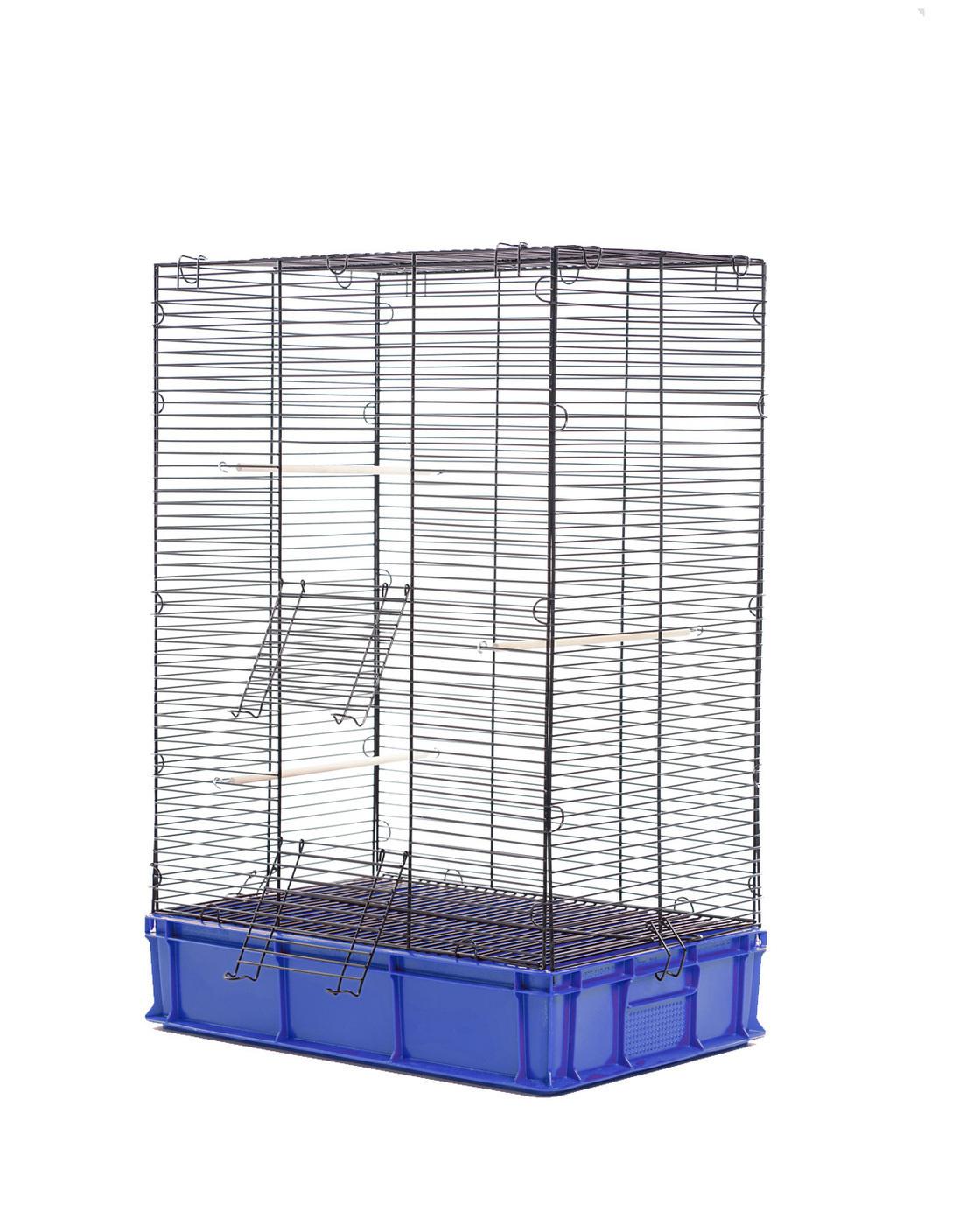 клетка для птиц, попугаев, высокая roklet, размер xl 56х38х88 уцененный товар (№1)