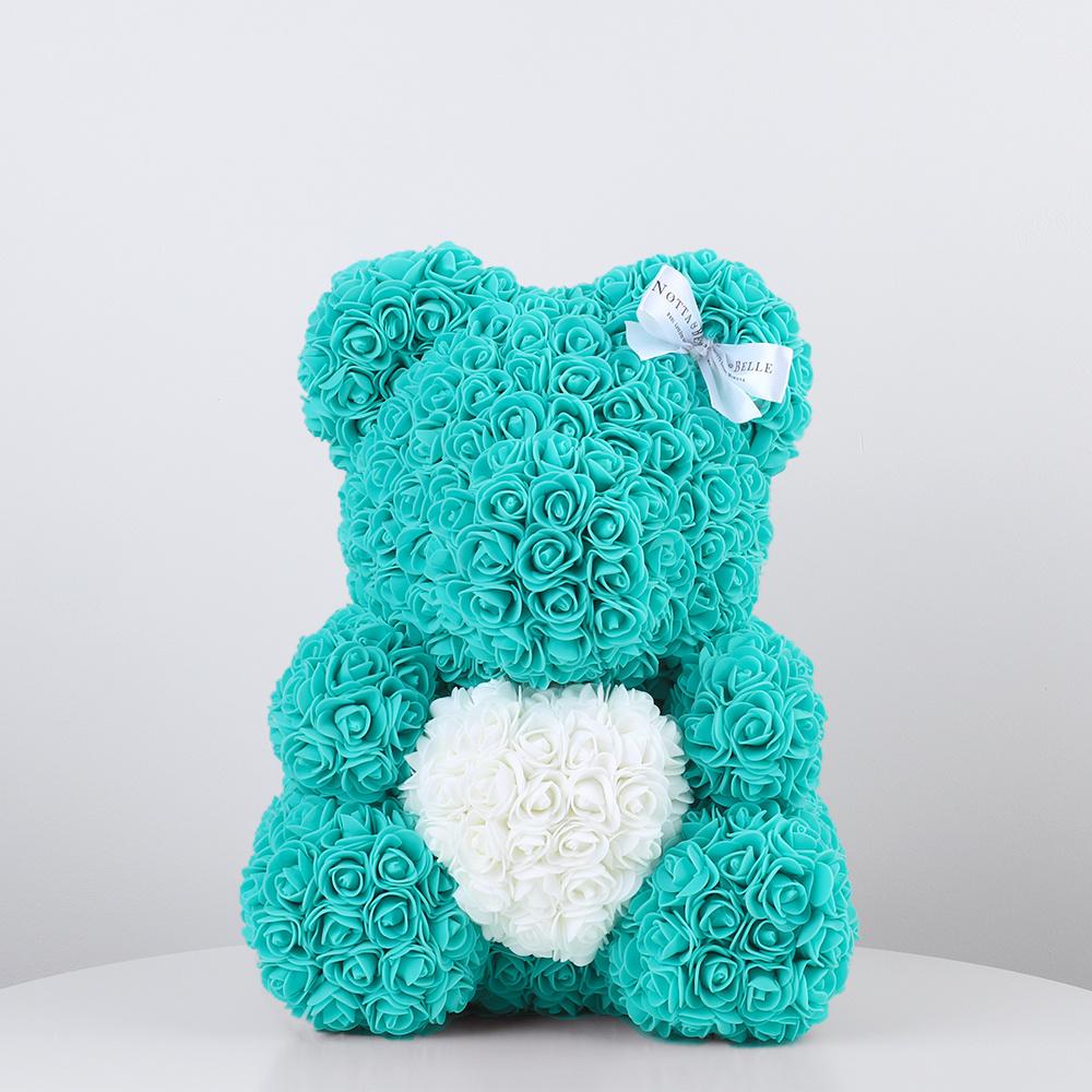 Мишка из роз 35 см с сердцем - Notta & Belle #1