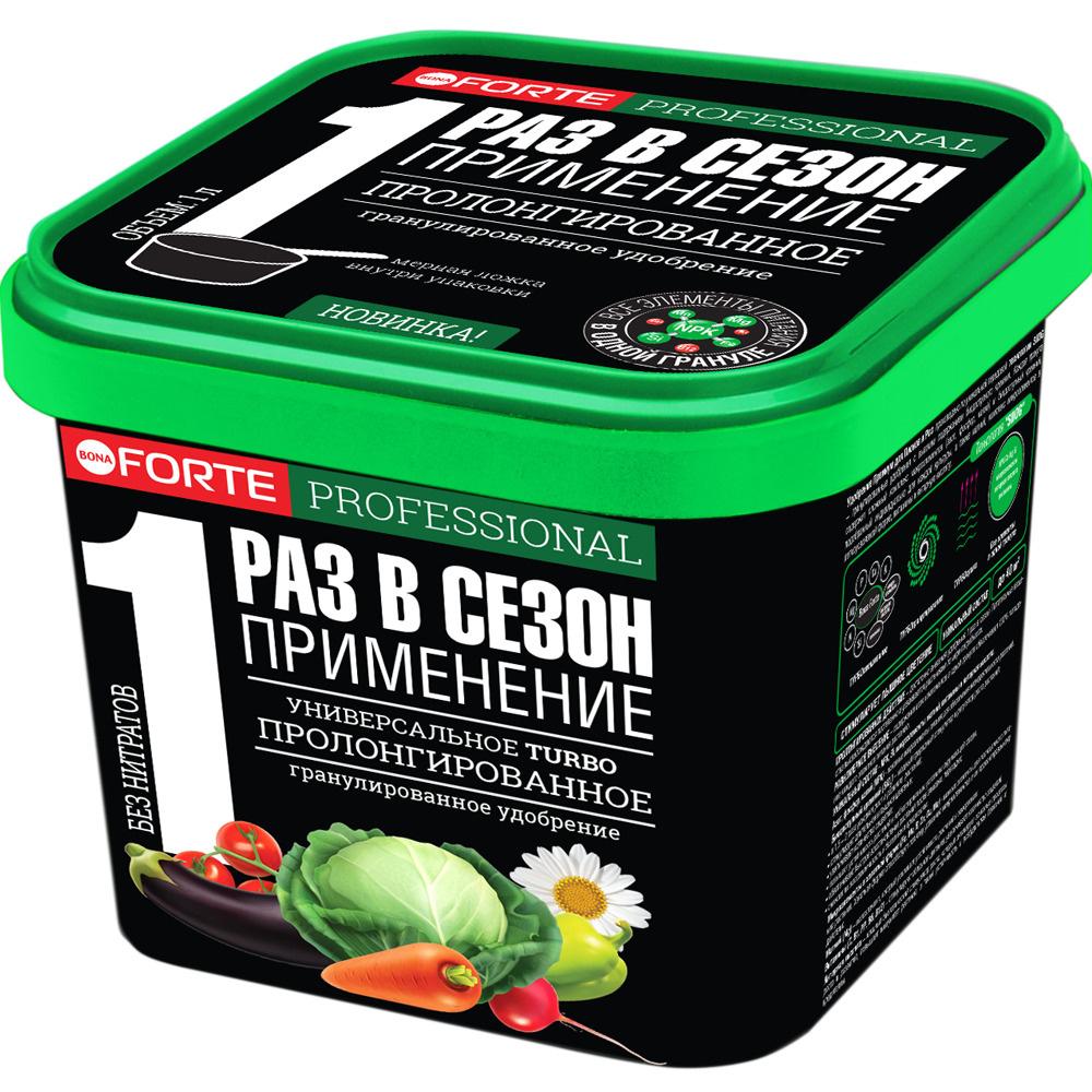 Удобрение Bona Forte Универсальное с биодоступным кремнием TURBO, ведро 1 л  #1