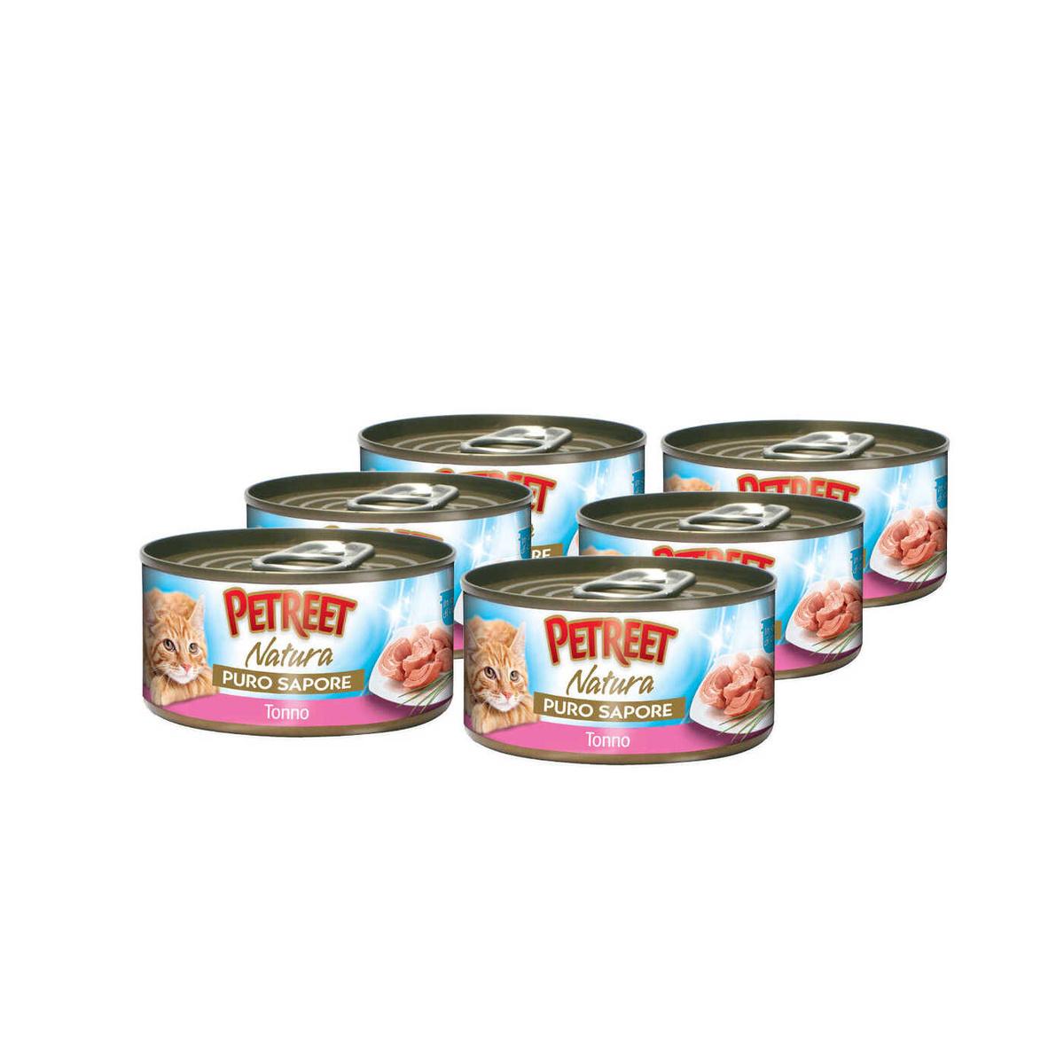 Корм консервированный Petreet, для кошек, кусочки тунца в рыбном супе, 6 шт по 70 г  #1