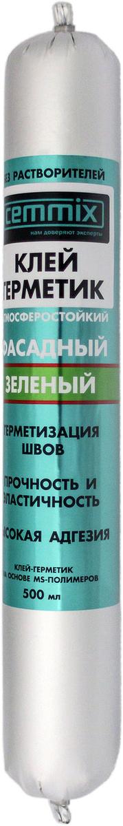 Клей-герметик Cemmix Фасадный универсальный Гибридный 500 мл зеленый  #1
