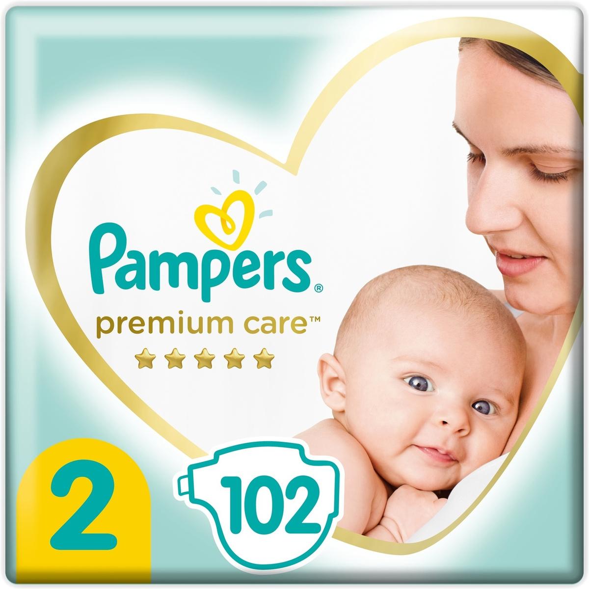 Pampers Подгузники Premium Care 4-8 кг 102 шт #1