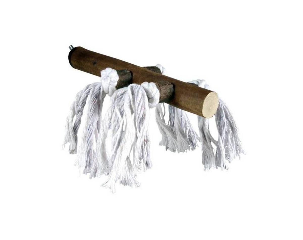 Жёрдочка деревянная TRIXIE 25 см, с верёвкой #1