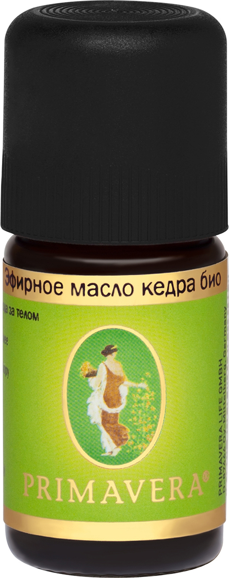 Эфирное масло Primavera Life, кедр био, 5 мл масло эфирное кедр 10мл