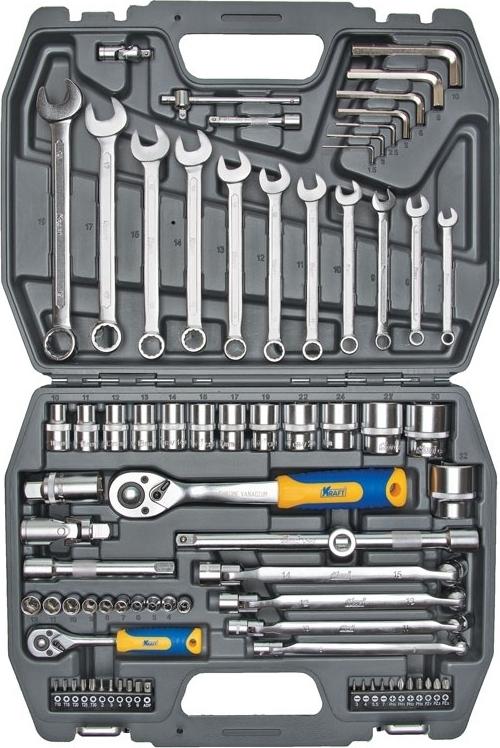 Набор ручного инструмента KRAFT КТ 700304 (77 предметов)