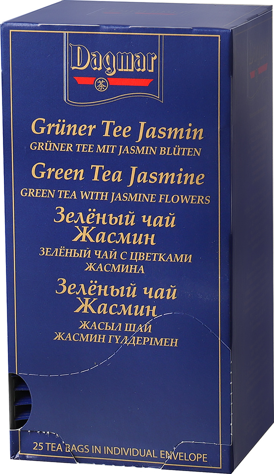 Чай зеленый ароматизированный на чашку Dagmar China Jasmine Китайский Жасмин (1,85 гр x 25 шт) зеленый ароматизированный чай медвежья сила