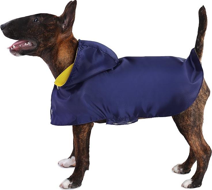 Дождевик для собак Монморанси Дождевик на подкладке, цвет: темно-синий, размер M дождевик прогулочный для собак glg цветок цвет темно синий размер l