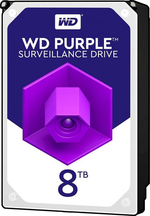 Фото - Жесткий диск 8Tb SATA-III Western Digital Purple, WD81PURZ жесткий диск 10tb western digital wd purple wd101purz