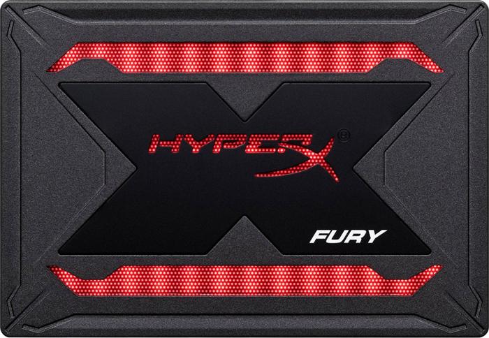 Твердотельный накопитель 960Gb SSD Kingston HyperX Fury RGB, SHFR200/960G цена