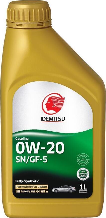 Моторное масло IDEMITSU FULLY-SYNTHETIC SN/GF-5, синтетическое, 0W-20, 1 л 30021328724