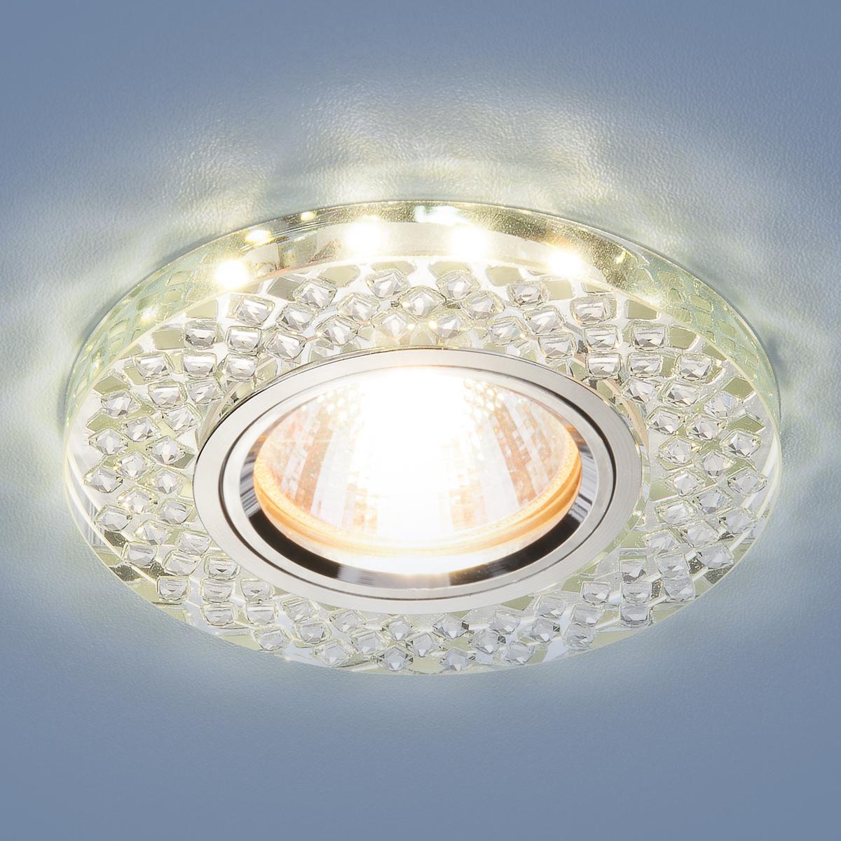 Встраиваемый светильник Elektrostandard потолочный со светодиодной подсветкой 2140 MR16 SL, G5.3
