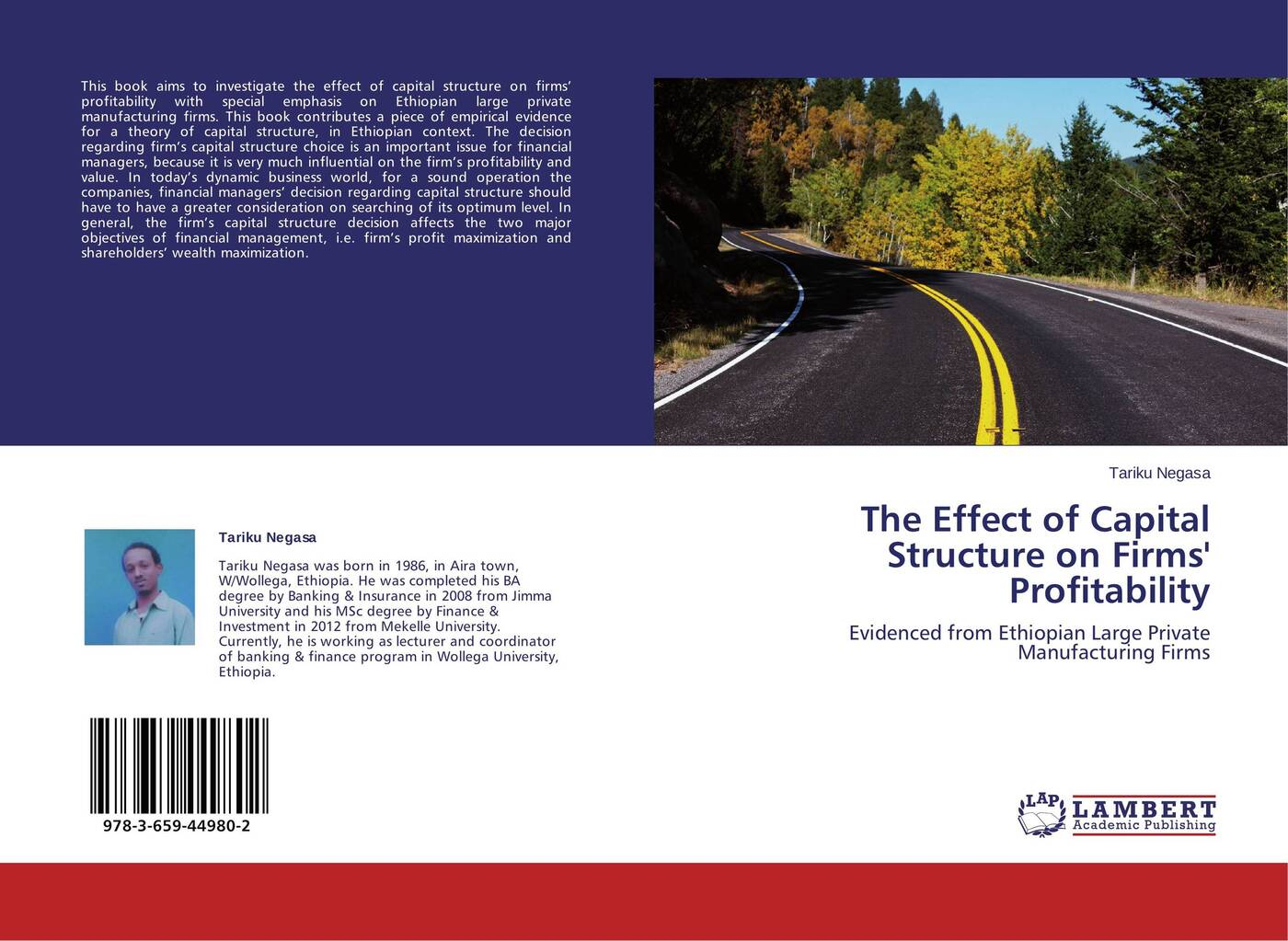 Tariku Negasa The Effect of Capital Structure on Firms' Profitability цена в Москве и Питере