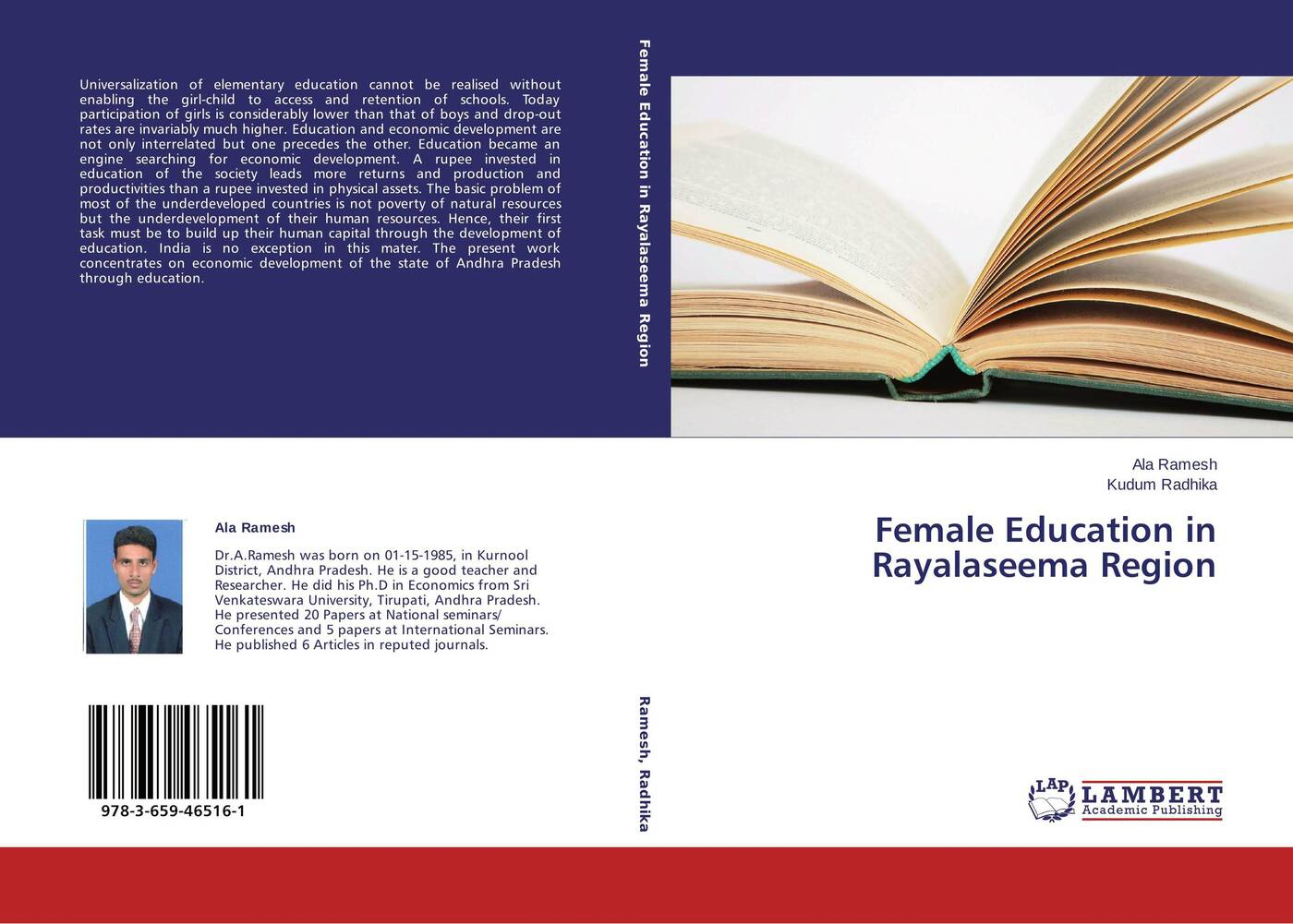 Ala Ramesh and Kudum Radhika Female Education in Rayalaseema Region seid yimer returns to education and wage differential