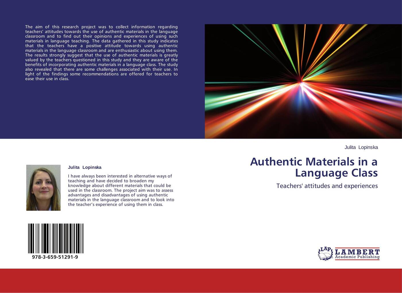 Julita Lopinska Authentic Materials in a Language Class ambiguity in language use