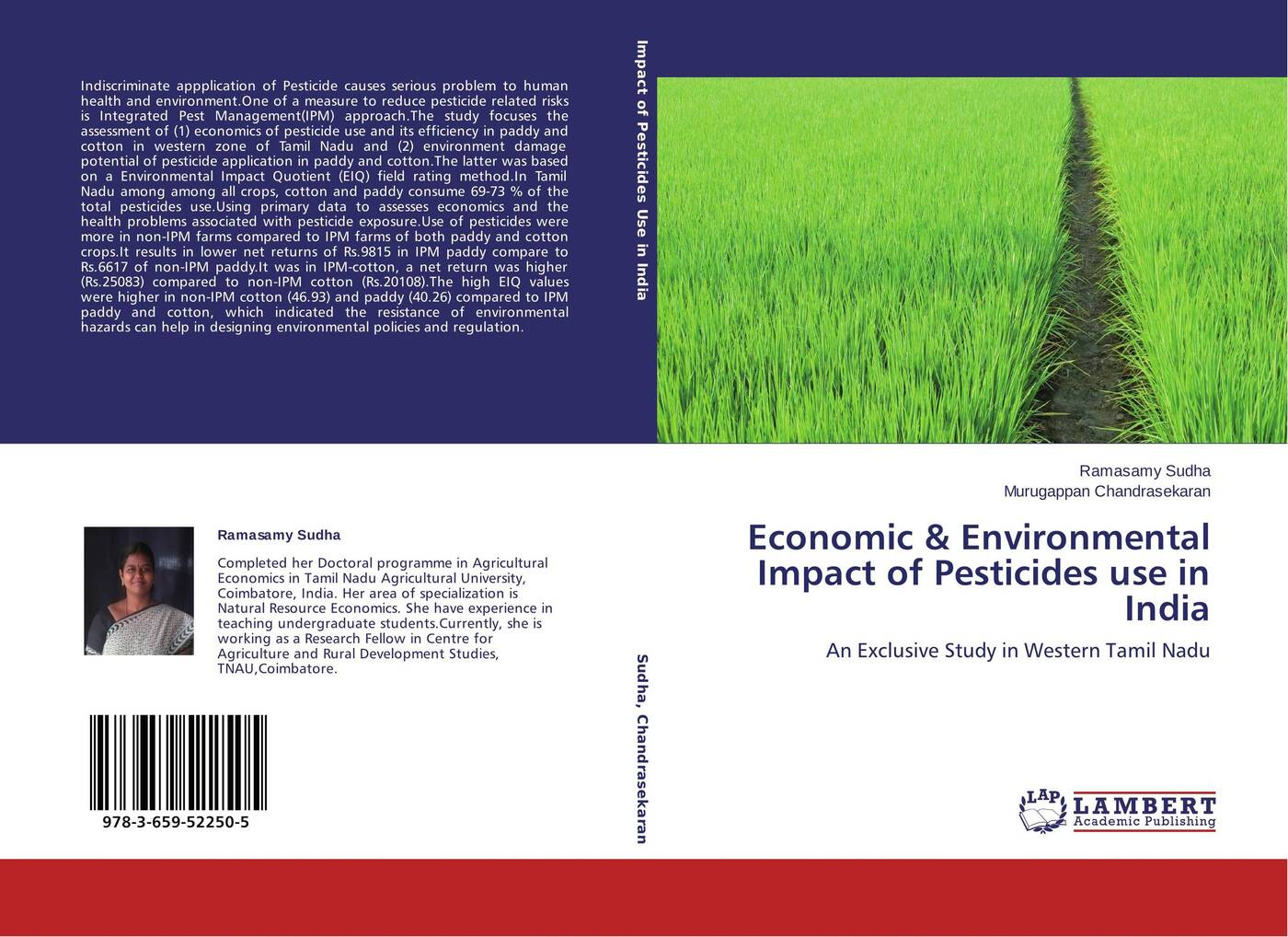 Ramasamy Sudha and Murugappan Chandrasekaran Economic & Environmental Impact of Pesticides use in India цены