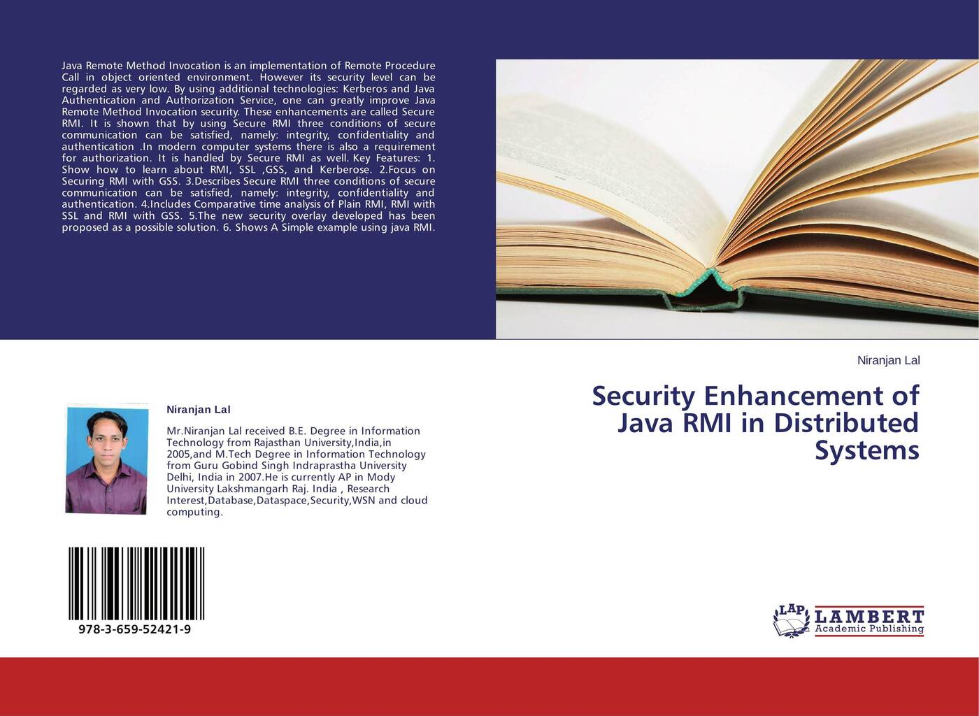 Niranjan Lal Security Enhancement of Java RMI in Distributed Systems цена 2017