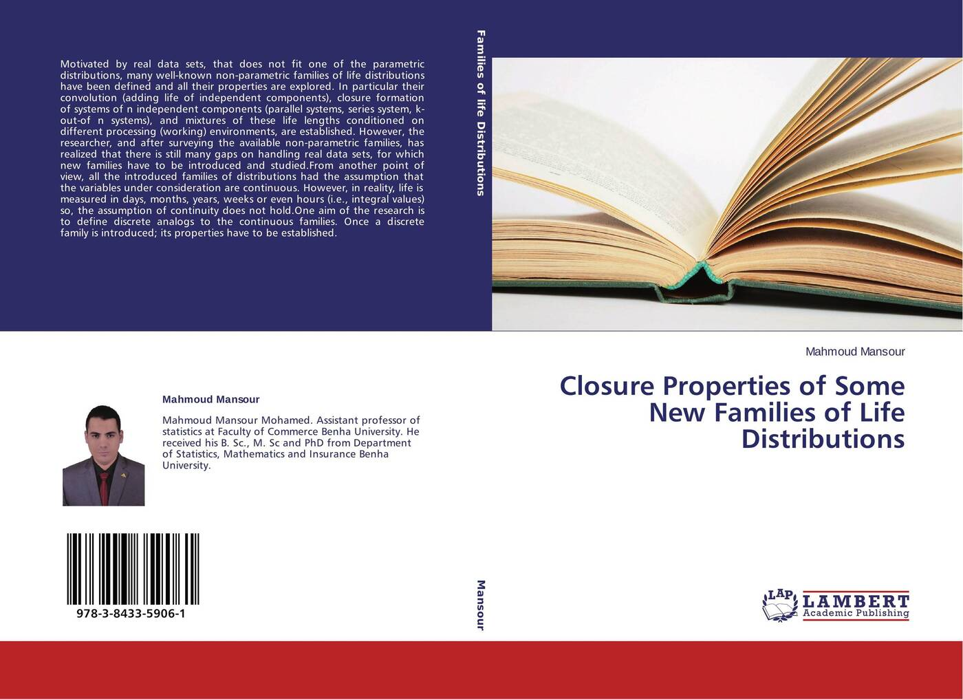 Mahmoud Mansour Closure Properties of Some New Families of Life Distributions charalambos charalambides a discrete q distributions