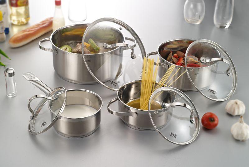 Набор посуды для приготовления Gipfel VICTORY 1.1 1.5 2.7 5.0 л