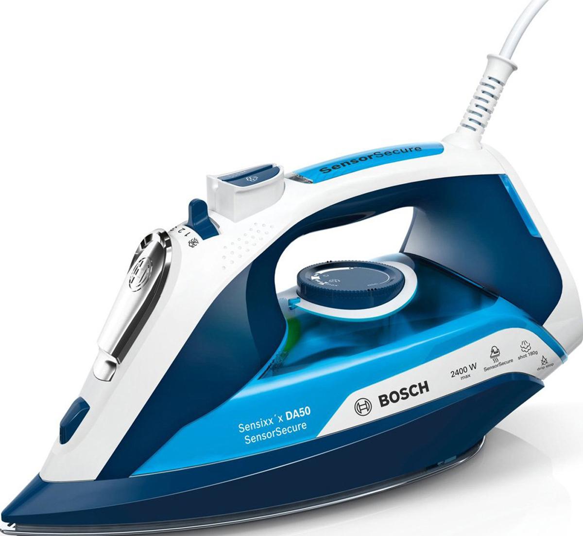 Утюг Bosch Sensixx'x DA50, синий, голубой, белый